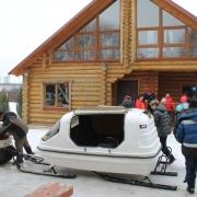 """Снегоход """"Бомбардье Ринг"""" и закрытые финские сани"""