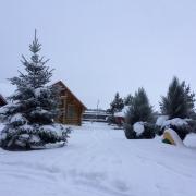 Базу завалило снегом